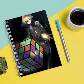 """Скетчбук (Sketchbook) для рисования с принтом """"Genshin Impact - Геншин Удар 16"""""""