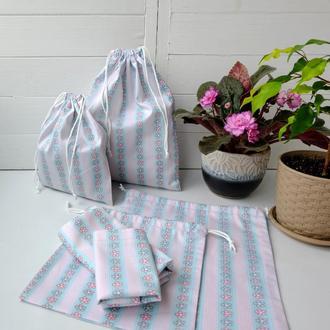 Эко мешок из хлопка, эко торбочка, мешочек для хранения, для продуктов, мішечок zero weste