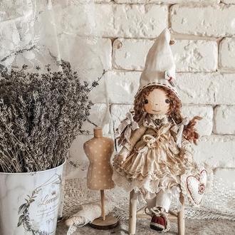 Текстильная коллекционная кукла