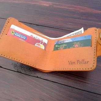 кошелек кожаный Van Pollar