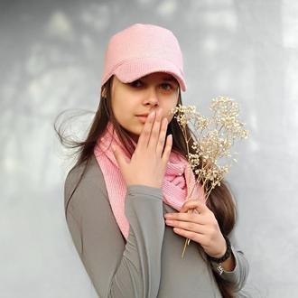 Летняя, розовая, женская кепка