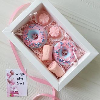 🎁😍👍 Оригинальный подарок ВКУСНЯШКИ ДЛЯ ЛЮБИМОЙ  - бомбочки, твердая пена и пралине для ванны