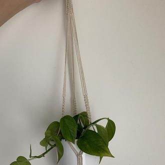 Подвеска для цветов Кашпо для растений Подвес для вазонов Декор сада Кашпо макраме бохо стиль