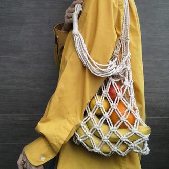 Авоська макраме Еко сумка ручной работы Плетенная еко торба Еко упаковка Сумка ручной работы