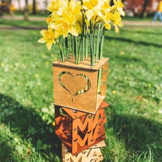 Подставка под цветы на 9 пробирок