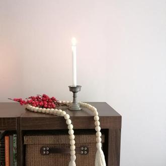 Дерев'яна гірлянда, різдвяний декор для дому