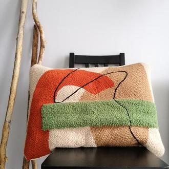 Декоративная подушка ручная вышивка