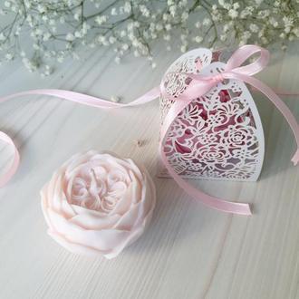 Свечи соевые РОЗА АНГЛИЙСКАЯ с ароматом свежих роз - подарки гостям свадьбы