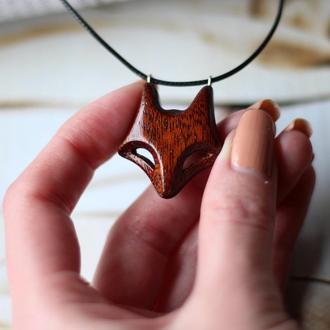 Кулон талисман лиса. Кельтские украшения животных. Резьба по дереву волк