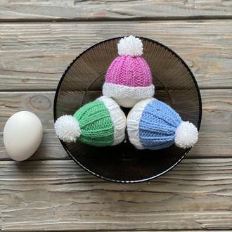 Украшение яиц, Вязаные шапочки для яиц, Декоративные шапочки на Яйца, Пасхальный декор
