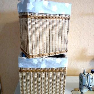 короб плетеный с чехлом