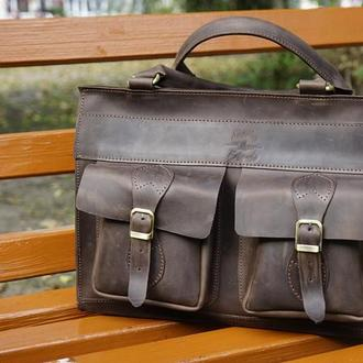 Кожаная мужсксая сумка EveryDay