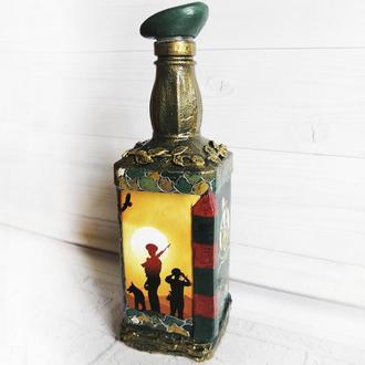 Сувенирная бутылка Погранвойска Подарок мужчине пограничнику Сувениры военной тематики