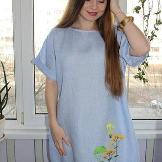 """Платье льняное """"Вище неба"""" ручная вышивка"""