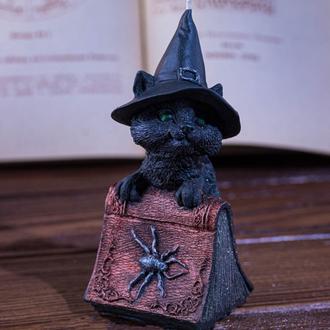 """Свеча """"Кот с магической книгой"""""""