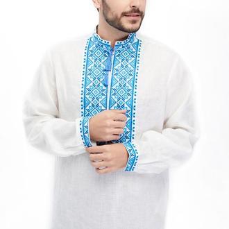 Сорочка чоловіча Борислав (льон білий)