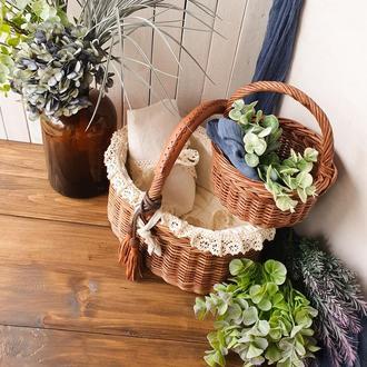 Набор плетеных корзин Корзины для пикника Плетеные корзины