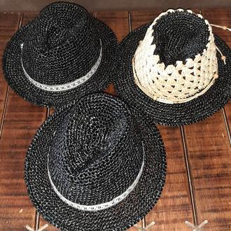 Шляпа Федора летняя натуральная