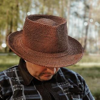 Шляпа Федора (Трилби) из рафии для женщин и мужчин
