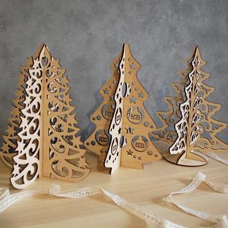 3D  новогодняя елка на выбор