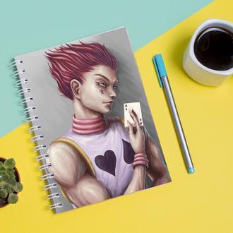 Скетчбук Sketchbook для рисования с принтом Hisoka Morou-Хисока 2