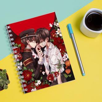 Скетчбук Sketchbook для рисования с принтом Jibaku Shounen Hanako-kun Туалетный мальчик Ханако 3