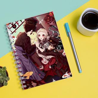 Скетчбук Sketchbook для рисования с принтом Jibaku Shounen Hanako-kun Туалетный мальчик Ханако 10