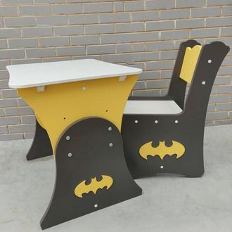 """Комплект стол и стул """"бэтмен"""""""