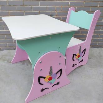"""Комплект стол и стул """"единорог"""""""