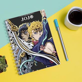 Скетчбук Sketchbook для рисования с принтом oJo's Bizarre Adventure - Невероятные приключения ДжоДжо