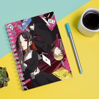 Скетчбук Sketchbook для рисования с принтом Kaguya-sama wa Kokurasetai-Кагуя в любви как на войне