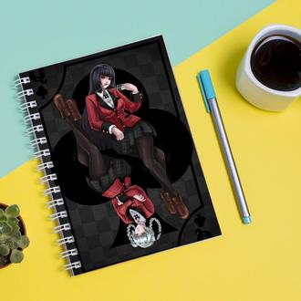 Скетчбук Sketchbook для рисования с принтом Kakegurui-Безумный азарт 3