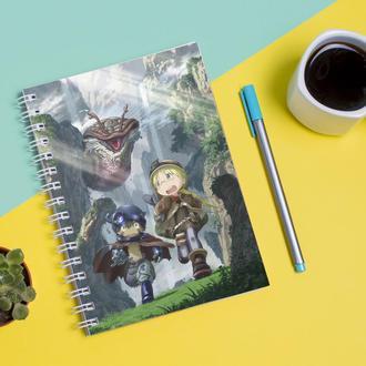 Скетчбук Sketchbook для рисования с принтом Made in Abyss-Dawn of the Deep Soul-Созданный в Бездне 2