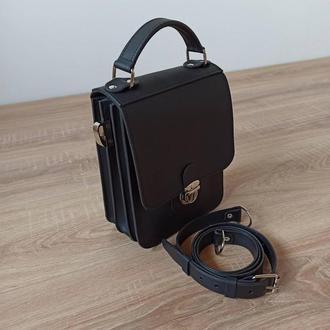 Мужская сумка-барсетка с натуральной кожи ручной работы