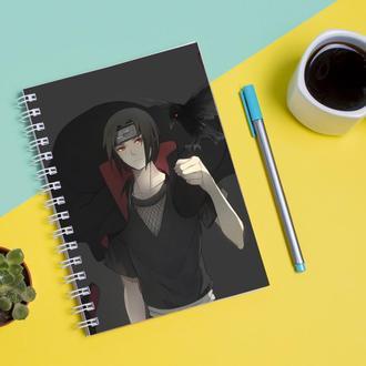 Скетчбук Sketchbook для рисования с принтом Naruto Наруто Итачи Учиха
