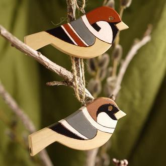 Пташечки-підвіски, набір з двох пташок