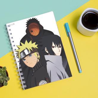 Скетчбук Sketchbook для рисования с принтом Naruto Наруто 17