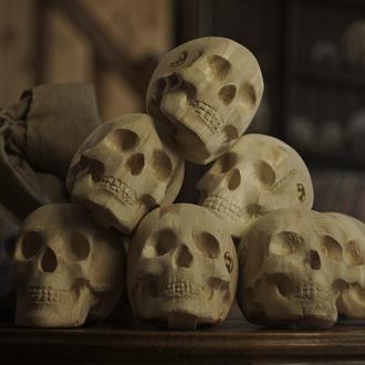 Комплект дров в форме черепов 7 штук- «Яркая фиеста»