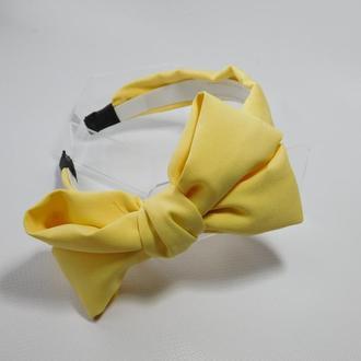 Обруч бант, колір лимонний