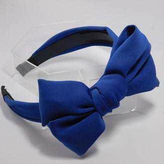 Обруч бант, колір синій