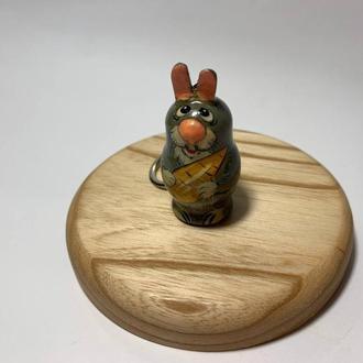 Брелок деревянный расписной ′Заяц′