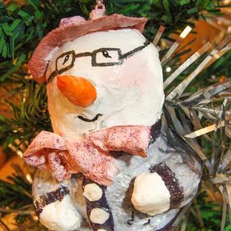Ялинкова іграшка Сніговик