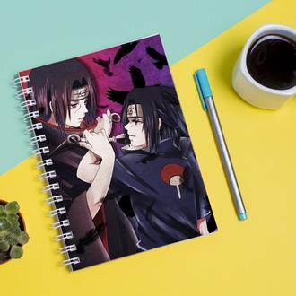 Скетчбук Sketchbook для рисования с принтом Naruto Наруто Итачи Саске