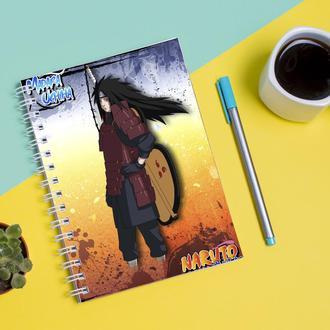 Скетчбук Sketchbook для рисования с принтом Naruto Наруто Мадара
