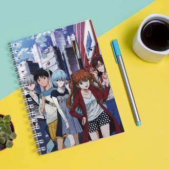 Скетчбук Sketchbook для рисования с принтом Neon Genesis Evangelion Евангелион нового поколения EVA