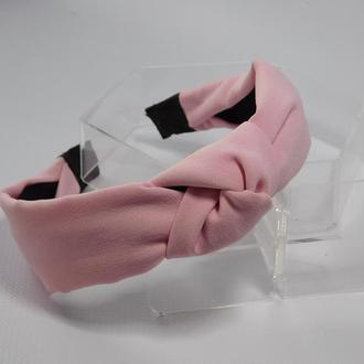 Обруч-чалма вузенький, колір рожевий