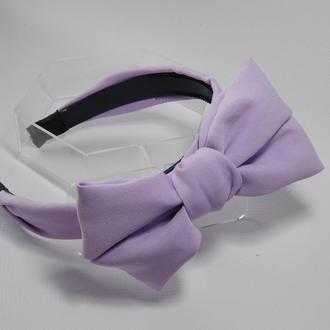 Обруч бант, колір фіолетовий