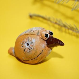 Свистулька ворона этно сувенир свищик для дітей