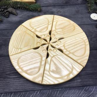 Секционная доска для подачи сыра или пиццы
