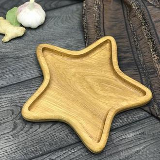 Деревянная тарелка «Звезда»